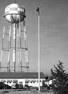 Perrin Field HQ during WWIIF102 pre-flight briefing