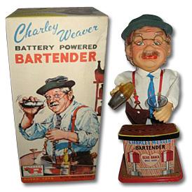 Charlie Weaver battery powered bartender